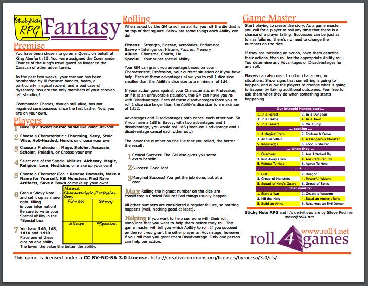 SN RPG fantasy • Roll4 Network