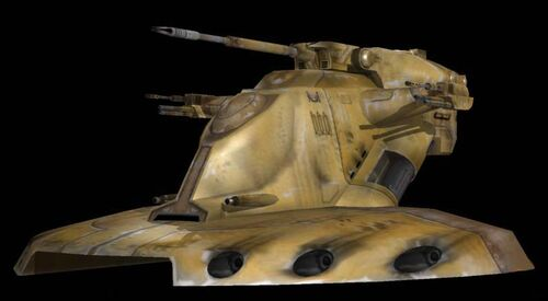 A picture of a Trade Federation Tank