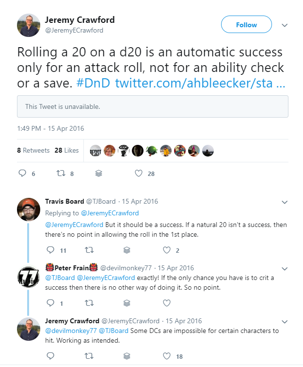 The Tweet referenced
