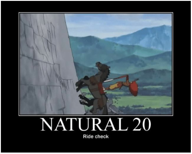 Nat 20 Ride Check as a Meme
