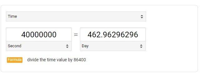 463 Days!